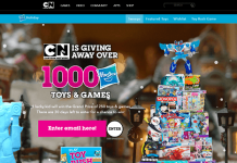 CartoonNetwork.com Win Holiday Sweepstakes 2016