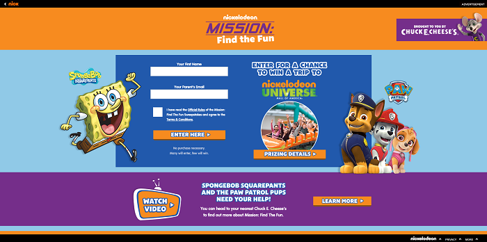 Missionfindthefun Com Nickelodeon Mission Find The Fun