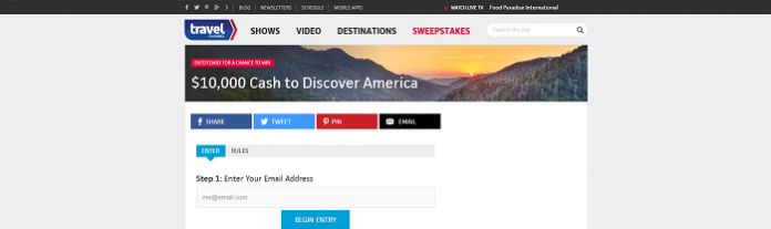 Travel Channel Sweepstakes June 2016