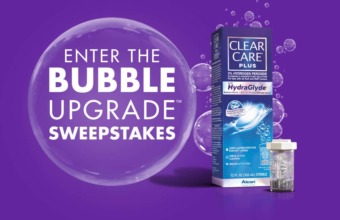 Bubbleupgradesweepstakes Com Clear Care Plus Bubble