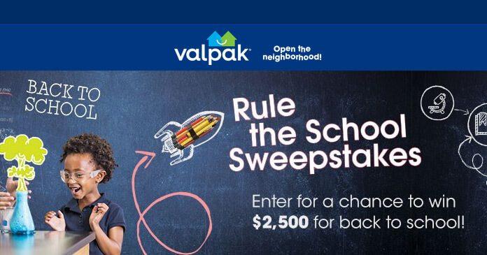 Valpak Rule the School Sweepstakes 2017