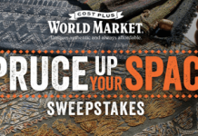 World Market Spruce Up Your Space Sweepstakes 2016