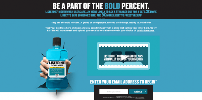 LISTERINE Bold Percent Sweepstakes & Instant Win Game