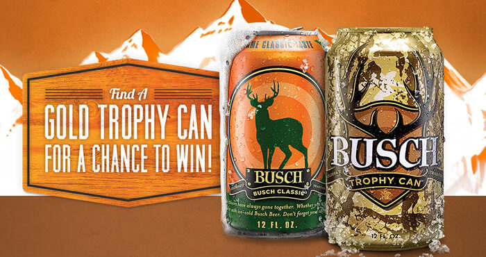 Find A Gold Trophy Can 2016 In The Busch Light Hunting Game