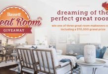 Bassett Furniture Great Room Giveaway 2016