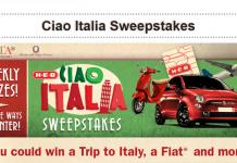 HEB.com/Italy - Ciao Italia Sweepstakes 2016