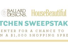 HouseBeautiful.com Ballard Designs Kitchen Sweepstakes