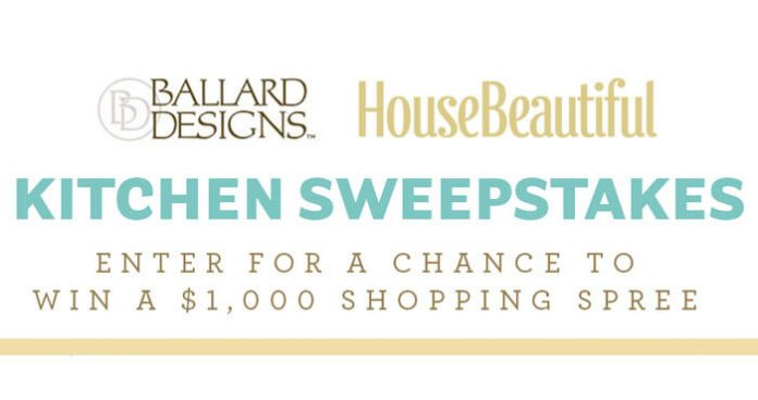 HouseBeautiful.com Ballard Designs Kitchen Sweepstakes