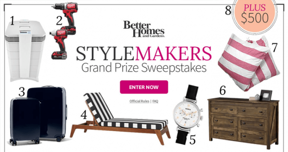 BHG Stylemakers Sweepstakes (BHG.com/StylemakersSweeps)