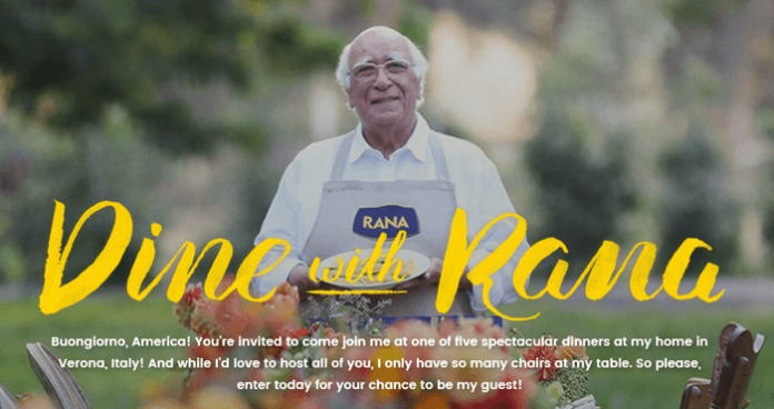 Dine with Rana Sweepstakes 2016 (DineWithRana.com)