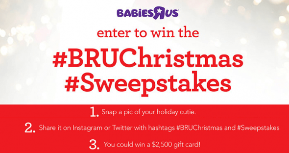 Babies R Us Baby's First Christmas Sweepstakes