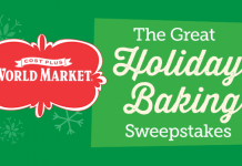 Cost Plus World Market Great Holiday Baking Sweepstakes (WorldMarketSweepstakes.com)