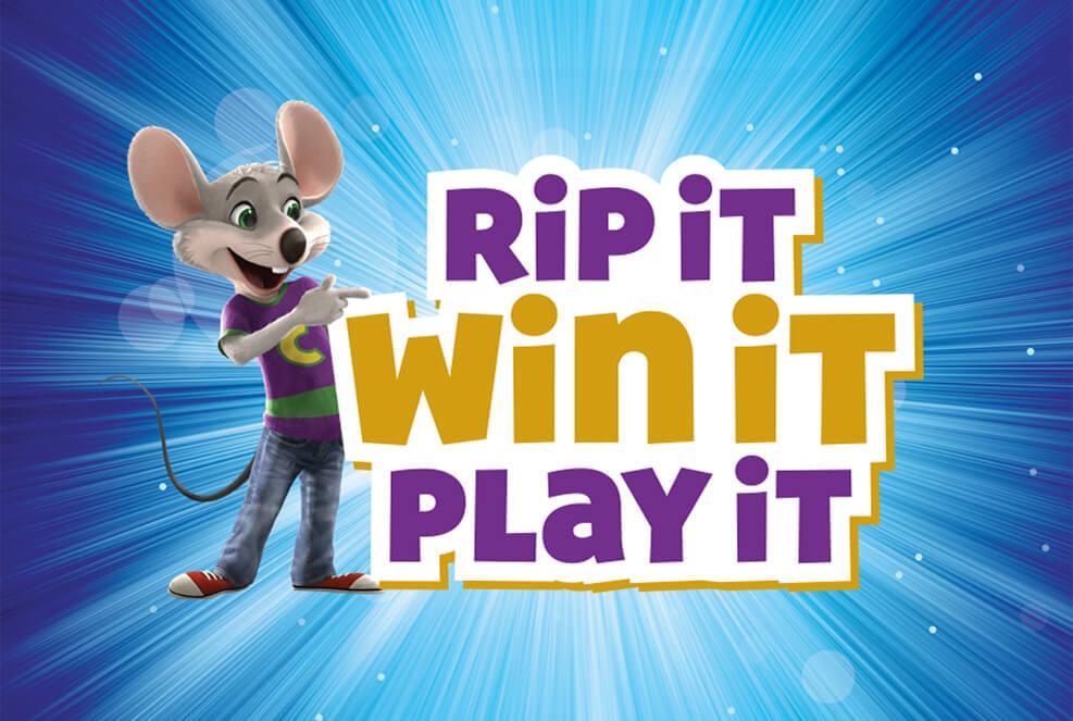 Chuck E. Cheese's Rip It, Win It Instant Win Game