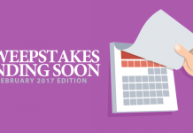 Sweepstakes Ending Soon (February 2017 Edition)