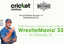 Cricket Wireless WrestleMania 33 Sweepstakes (CricketSweepstakes.com/WWE33)
