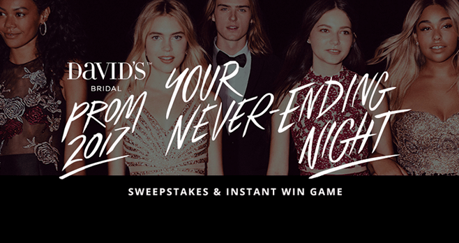 David's Prom Sweepstakes And Instant Win Game
