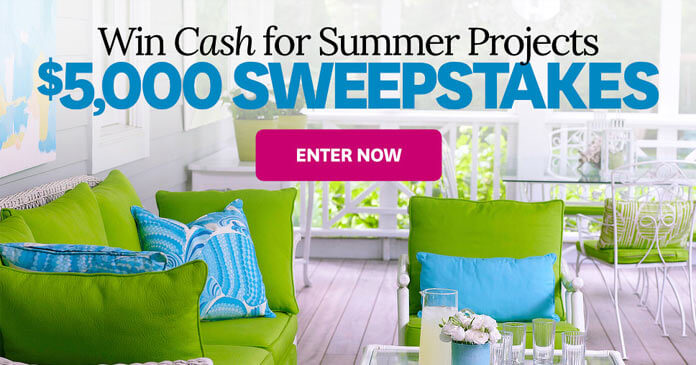 BHG.com/5KSweeps - Better Homes and Gardens $5,000 Sweepstakes