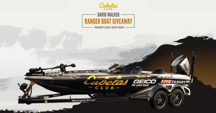 Cabela's Club David Walker Ranger Boat Giveaway 2017