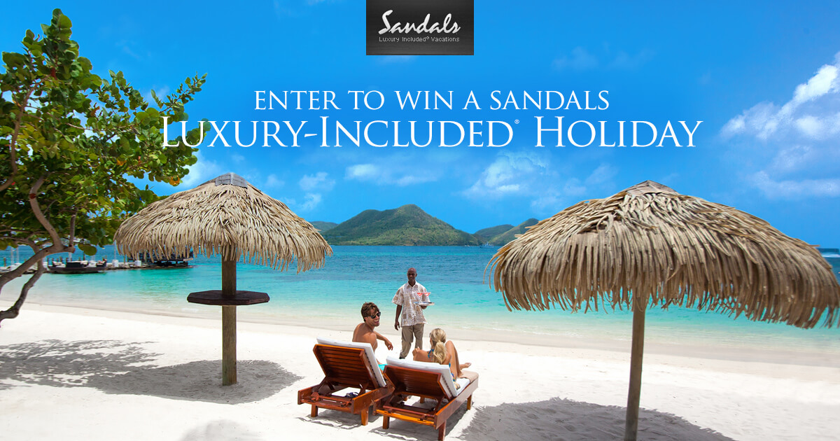 Sandals Luxury Vacation Sweepstakes 2017