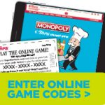 Tops Monopoly Online Game Codes