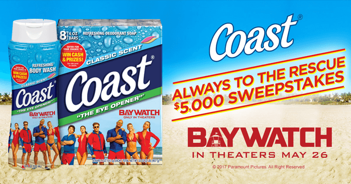 Coast Bar Soap Always To The Rescue Sweepstakes