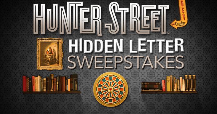 Hunter Street Hidden Letter Hunt Sweepstakes
