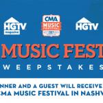 HGTV CMA Music Festival 2017 Sweepstakes