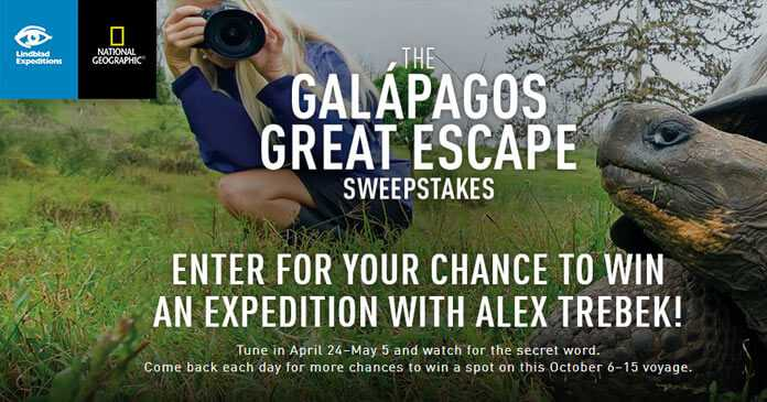Jeopardy Galapagos Great Escape Sweepstakes