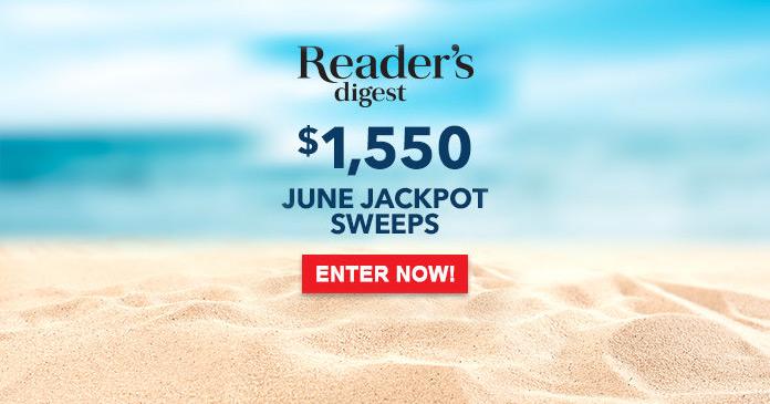 Reader's Digest June 2017 Jackpot Sweepstakes