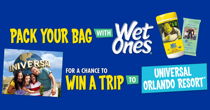 Wet Ones Wish I Had A Trip To Universal Orlando Sweepstakes