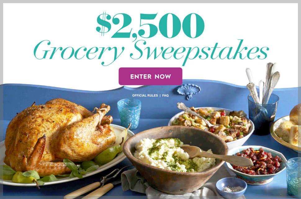 BHG $2,500 Grocery Sweepstakes (BHG.com/GrocerySweeps)