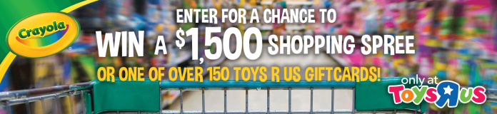 Crayola Toys R Us Awwwwesome Back To School Shopping Spree Sweepstakes
