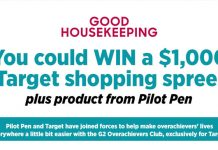 Good Housekeeping Target and Pilot G2 Sweepstakes