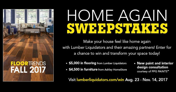 Lumber Liquidators Home Again Sweepstakes