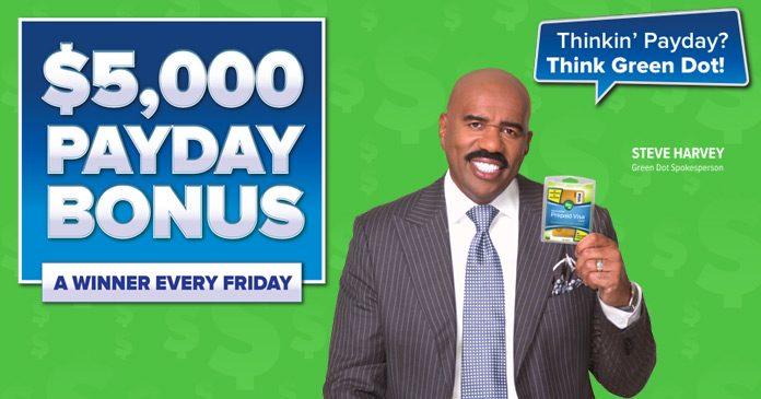 Green Dot Payday Bonus Sweepstakes