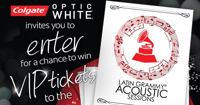Colgate Optic White 2017 Latin Grammy Acoustic Session in LA Sweepstakes