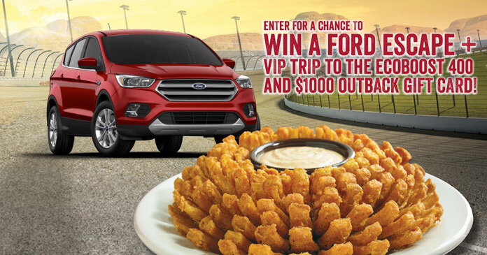 Outback Steakhouse Fall Racing Sweepstakes 2017