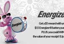 Energizer Holiday Sweepstakes 2017