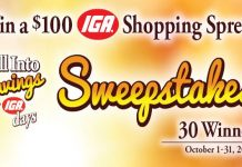 IGA Fall Into Savings Sweepstakes 2017