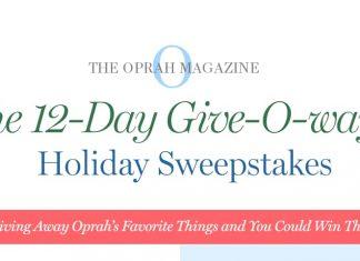 Oprah 12 Days Of Christmas Giveaway 2018 (Oprah.com/12Days)