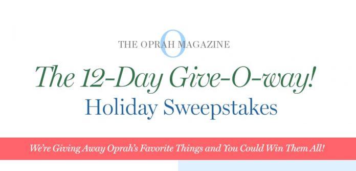 Oprah 12 Days Of Christmas.Oprah 12 Days Of Christmas Giveaway 2018 Oprah Com 12days