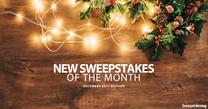 New Online Sweepstakes (December 2017)