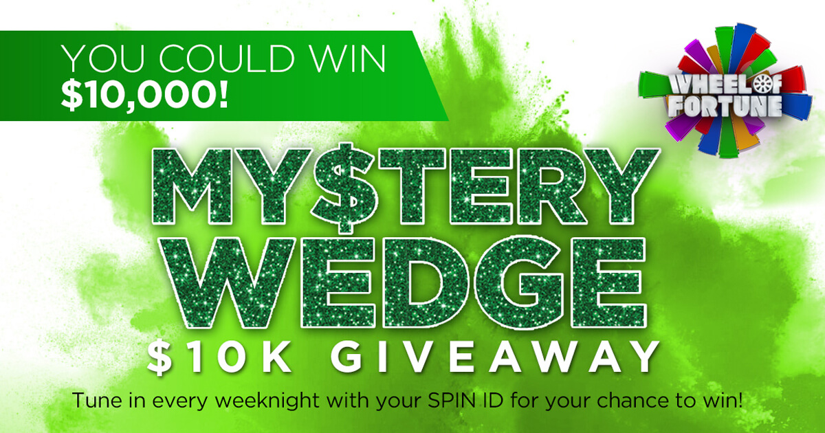 Wheel Of Fortune Mystery $10K Wedge Giveaway