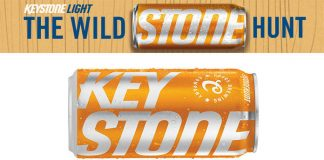 Orange Keystone Light Can 2018 Stone Hunt Sweepstakes