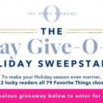Oprah 12 Days Of Christmas 2019 Giveaway (OprahMag.com/12Days)