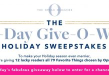 Oprah 12 Days Of Christmas 2019 Giveaway (OprahMag.com/12Days)
