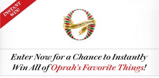 Oprah Favorite Things 2018 Instant Win Sweepstakes