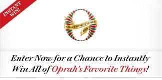 Oprah Favorite Things 2018 Instant Win Sweepstakes