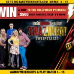 Big Bang Theory Shazinga Sweepstakes