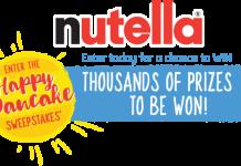NUTELLA Happy Pancake Sweepstakes (HappyPancakeSweepstakes.com)
